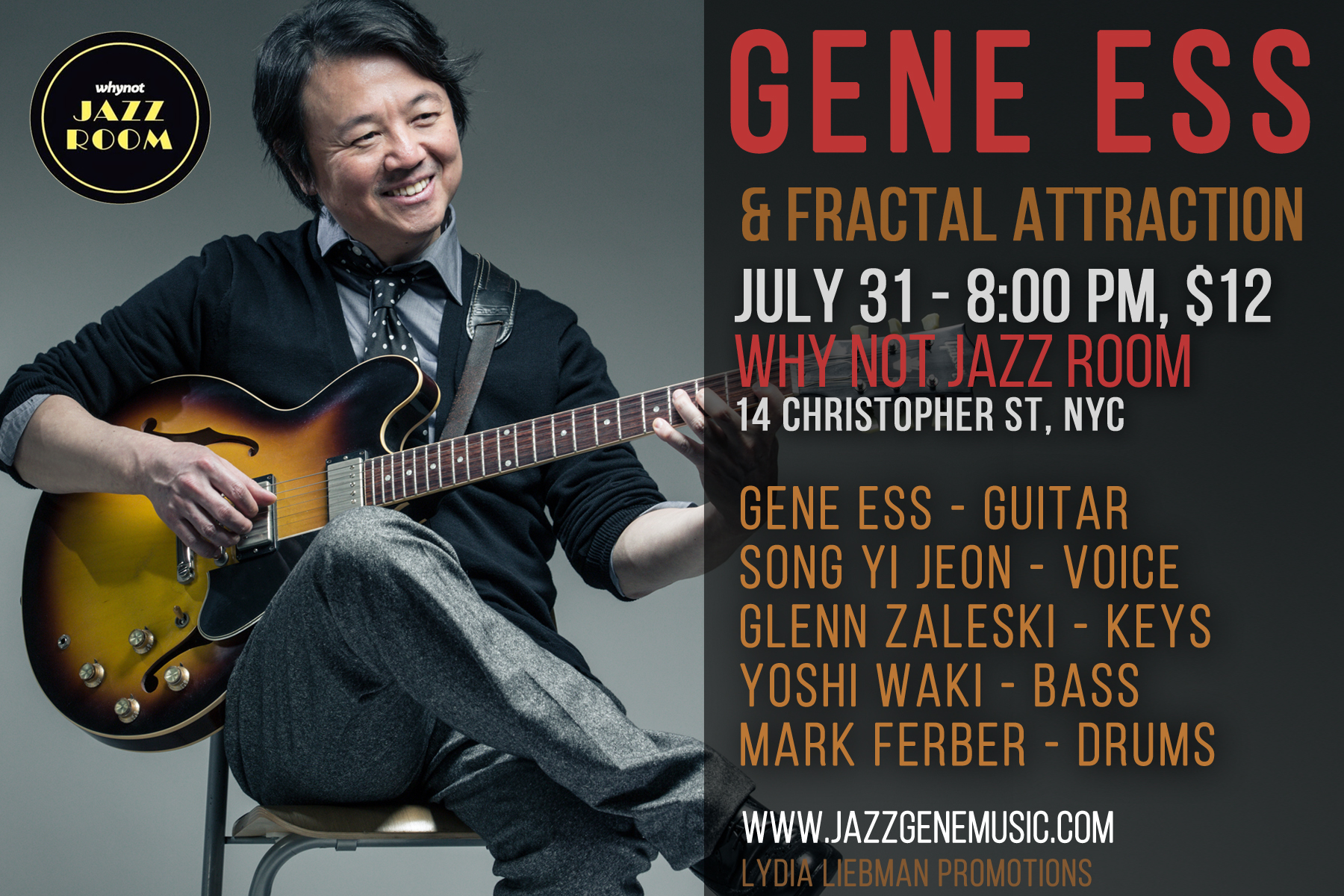 Gene Ess & Fractal Attraction, Whynot Jazz Room, NYC, 7/31/15