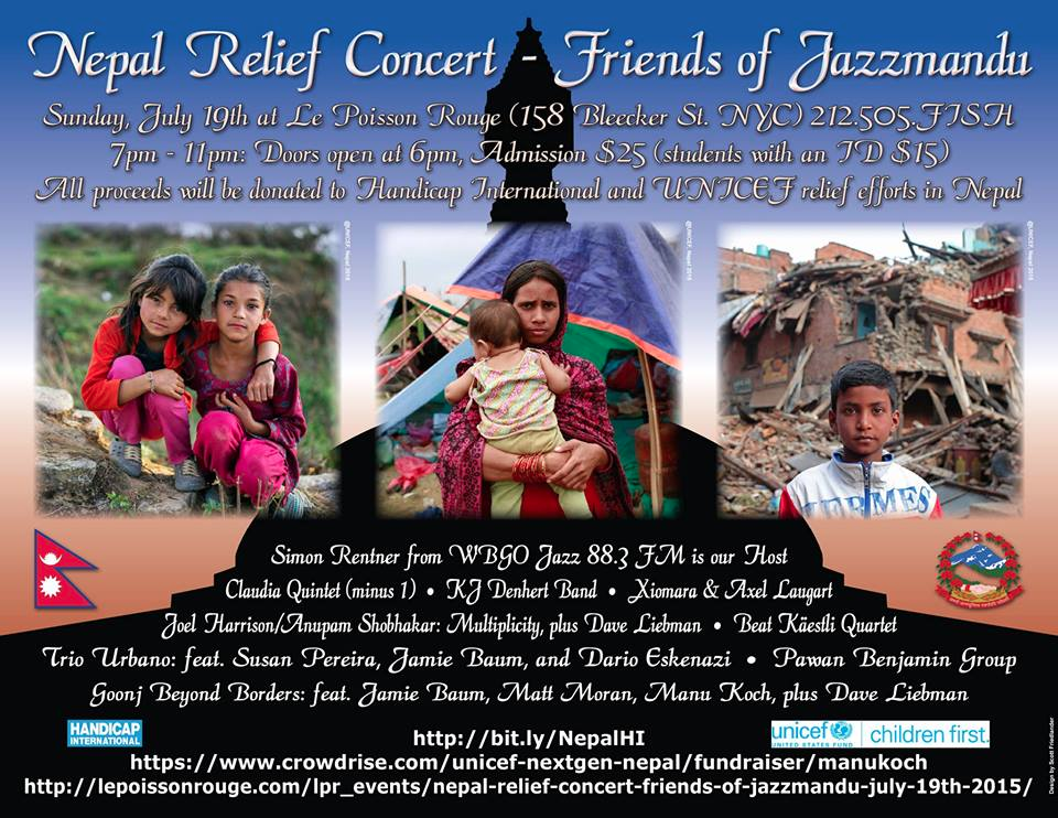 Nepal Relief Concert, Le Poisson Rouge, NYC, 7/19/15