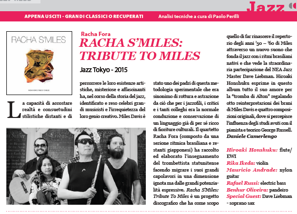 Racha Fora Reviewed in Italy's SUONO