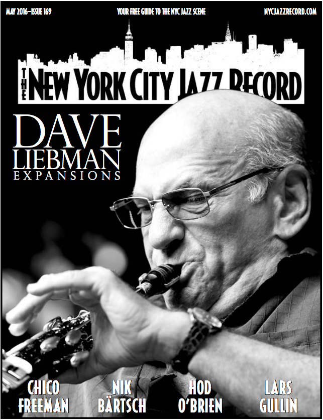 Dave Liebman on the cover of New York City Jazz Record