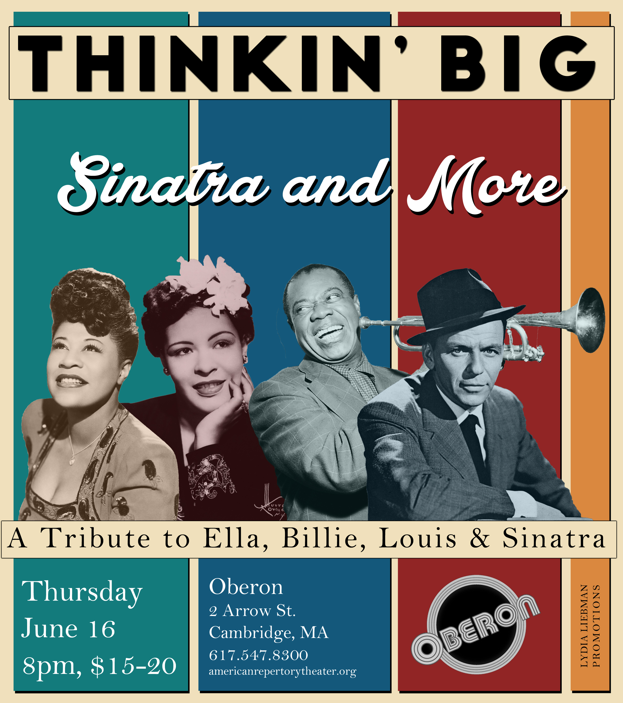 Thinkin' Big Returns to Oberon for Sinatra, Billie, Ella, and Louis Tribute!