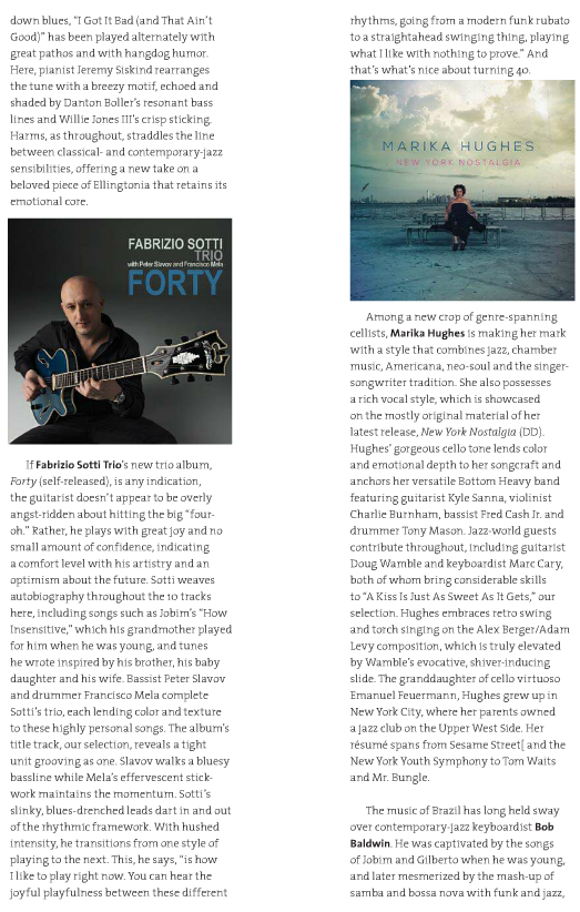 Fabrizio Sotti's Forty Featured in the Summer Issue of Jazziz and on CD Sampler