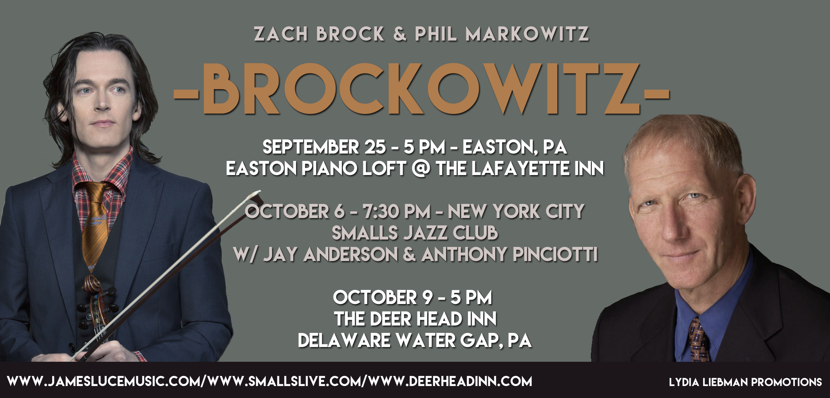 3 Nights of Brockowitz: Zach Brock & Phil Markowitz to perform in NY and PA