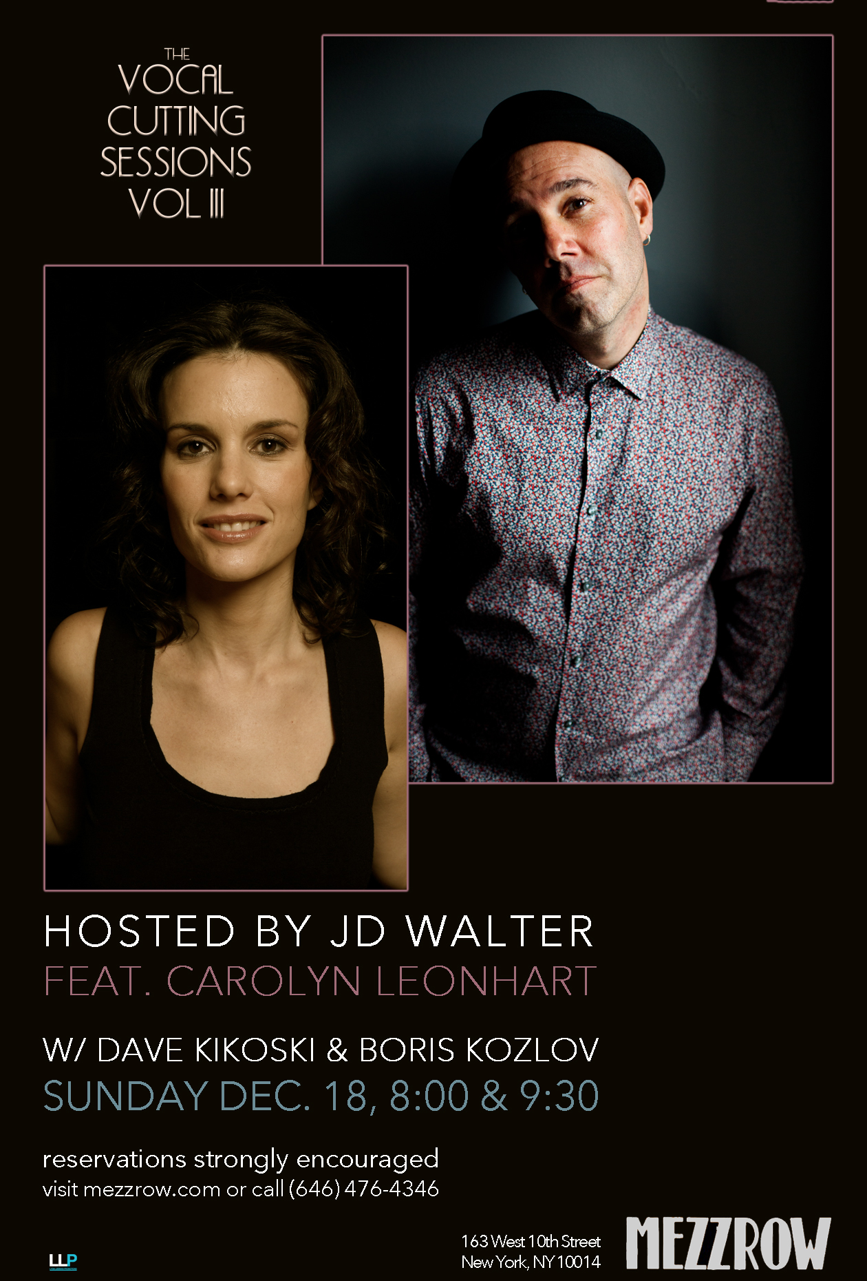 The Vocal Cutting Sessions Vol III Hosted by JD Walter, featuring Carolyn Leonhart at Mezzrow
