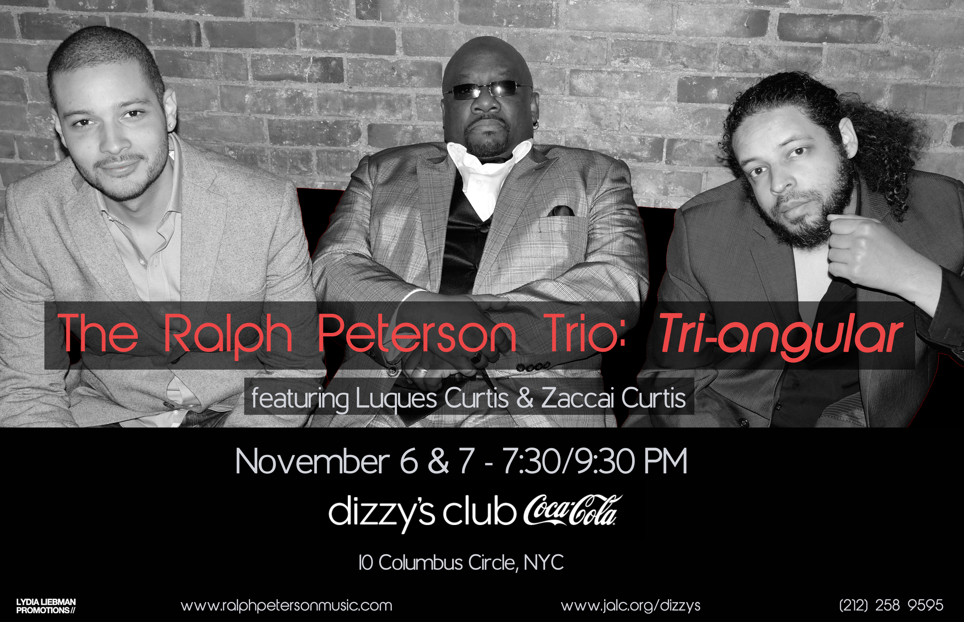 The Ralph Peterson Trio, featuring The Curtis Brothers to perform at Jazz at Lincoln Center November 6 & 7