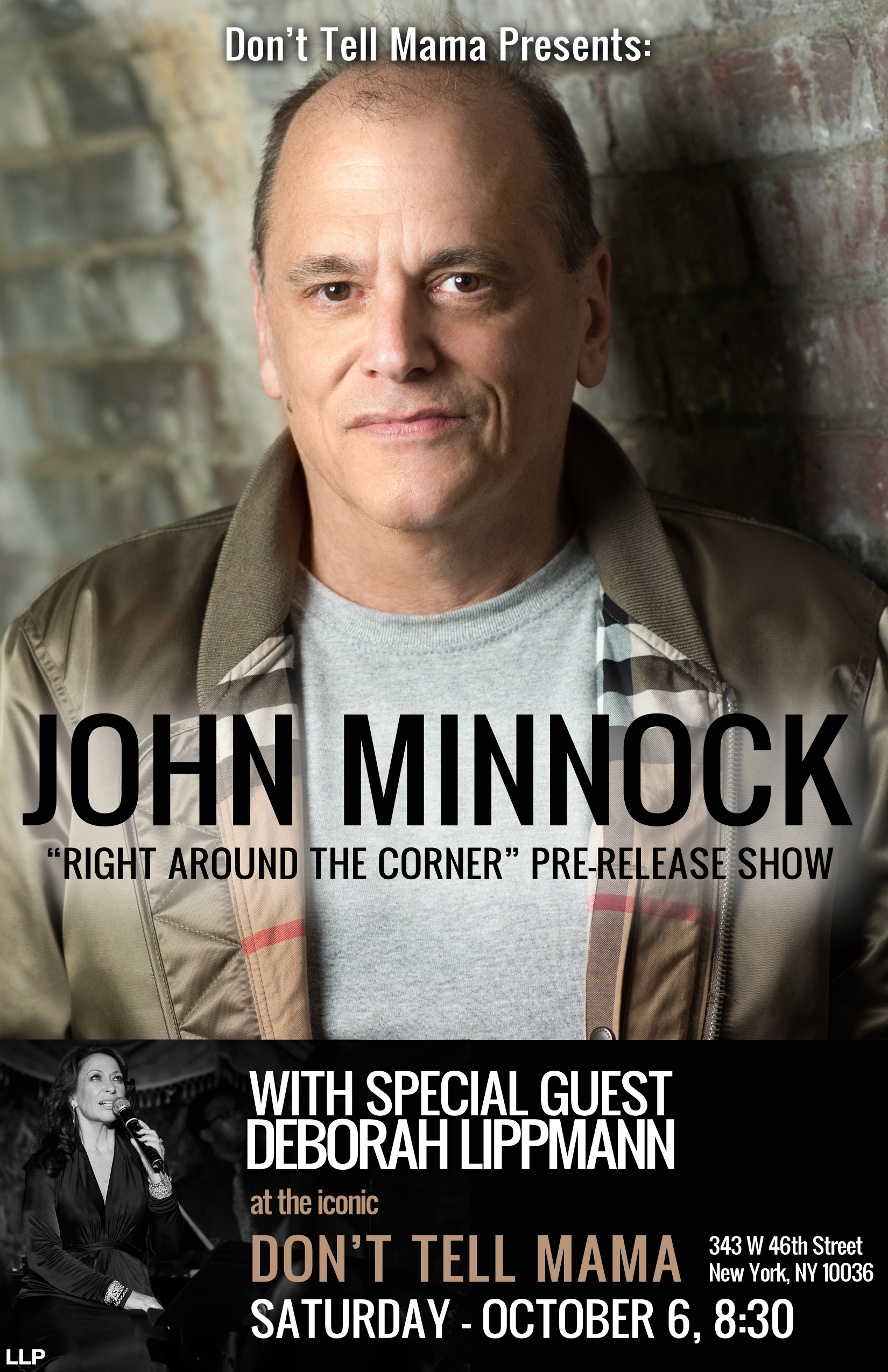 "NEW RELEASE: Vocalist John Minnock Announces New Album ""Right Around the Corner"" and Release Show @ Don't Tell Mama, NYC"