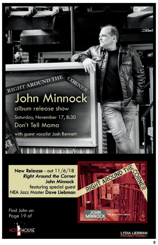 FEATURE: Hot House Features John Minnock's Upcoming Show at Don't Tell Mama