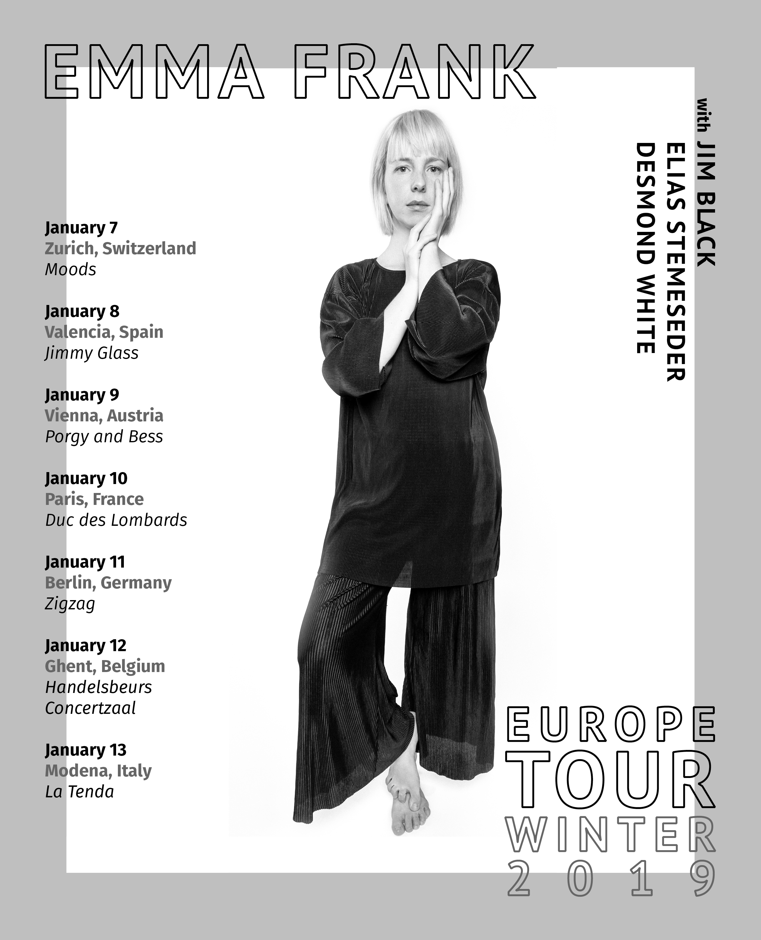 Emma Frank Announces European Tour in January