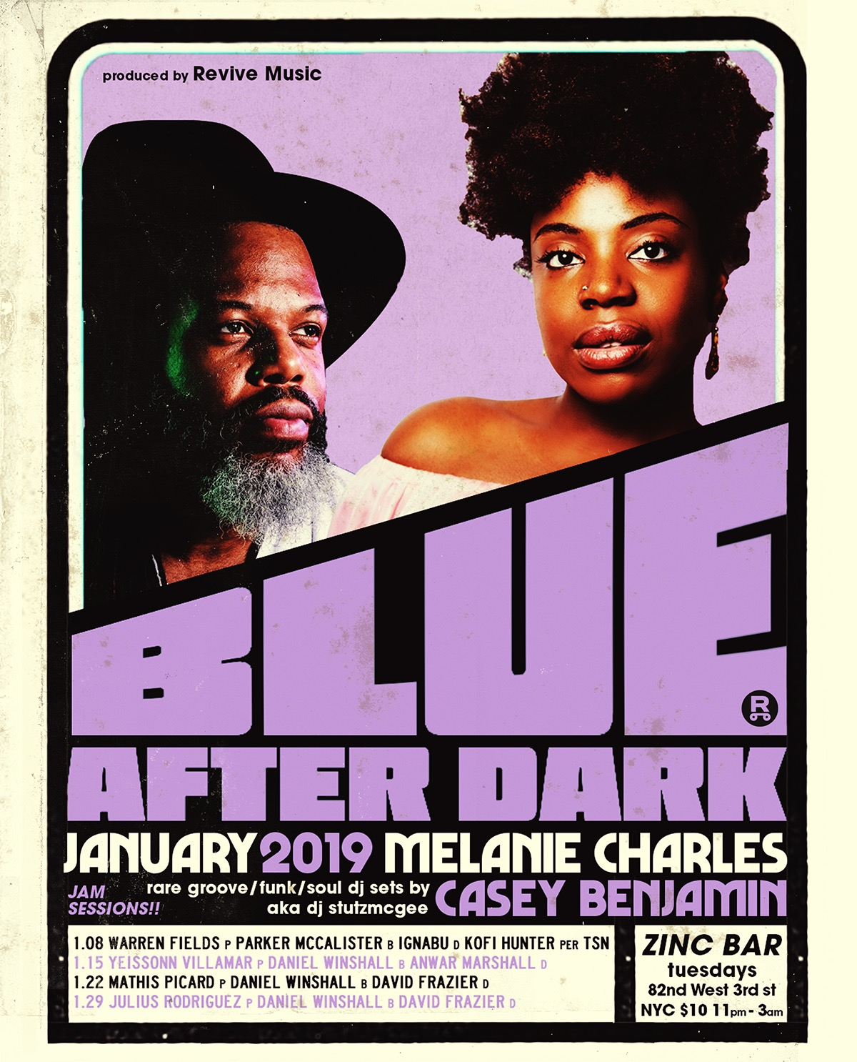 REVIVE Music Announces Blue After Dark's New Host Melanie Charles + Resident DJ Casey Benjamin aka DJ Stutzmcgee