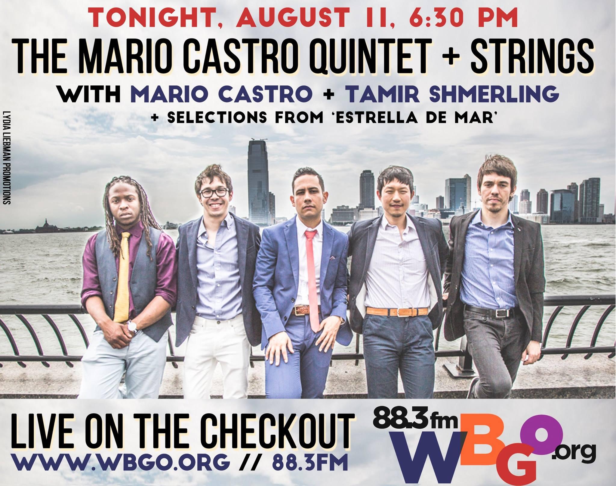 Mario Castro on WBGO's The Checkout TONIGHT!