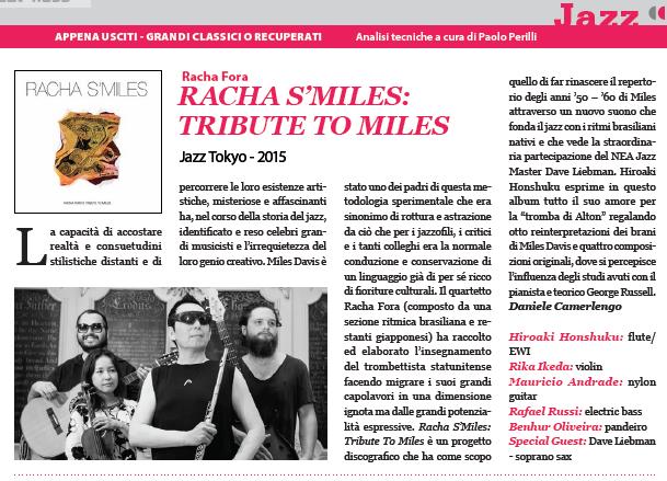 Racha Fora Reviewed in Italy's SUONO