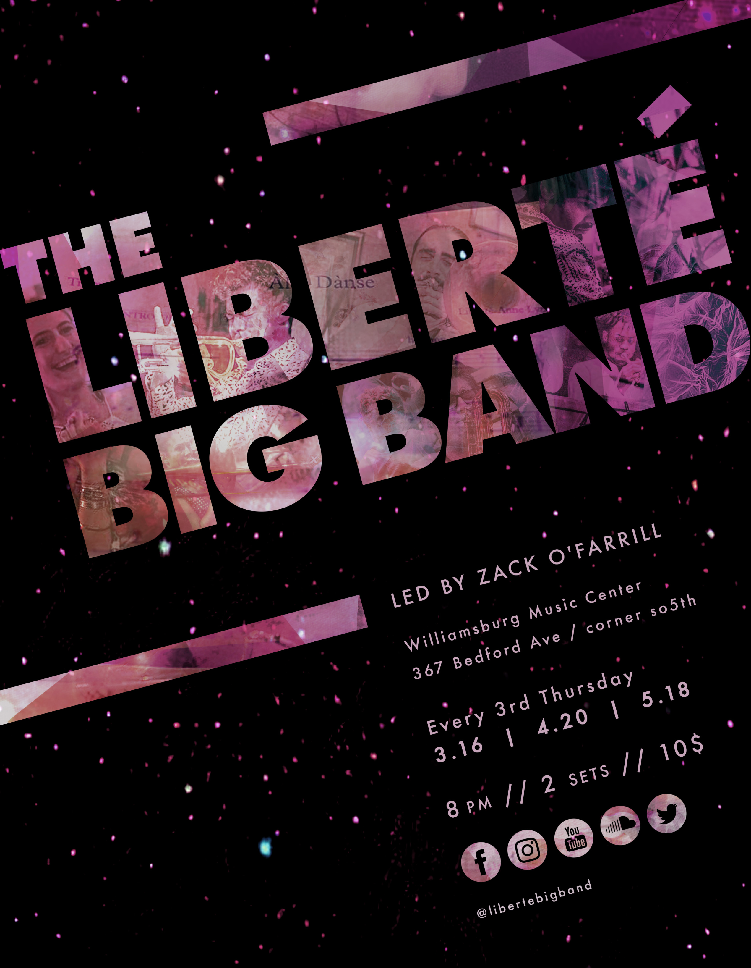 Liberte Big Band Returns to the Williamsburg Music Center 4/20