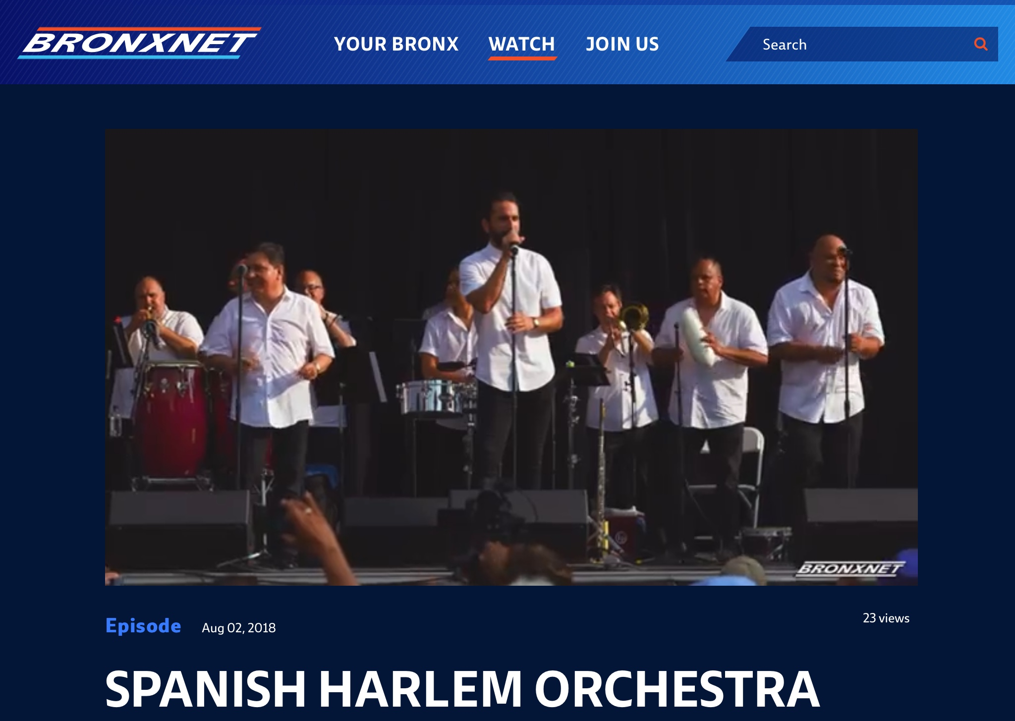 INTERVIEW: Bronx Net Interviews Spanish Harlem Orchestra at Recent SummerStage NYC Performance
