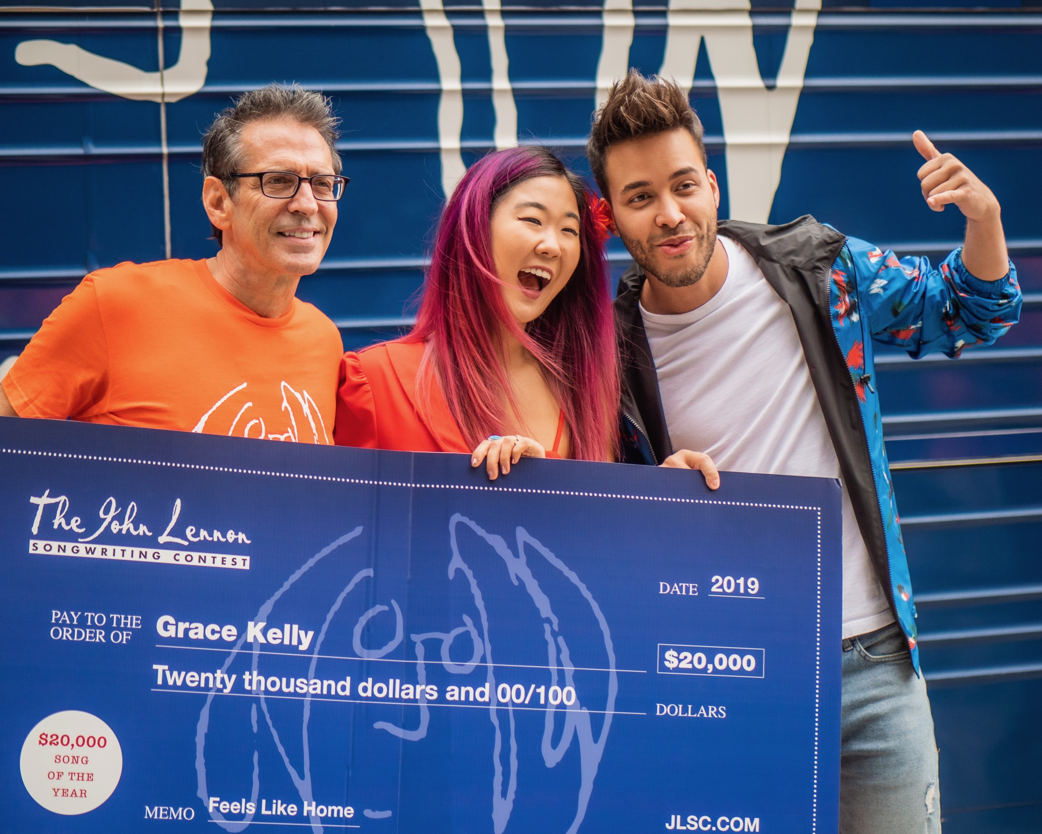 Grace Kelly Awarded $20,000 for Winning John Lennon Songwriting Contest  SONG OF THE YEAR in New York City