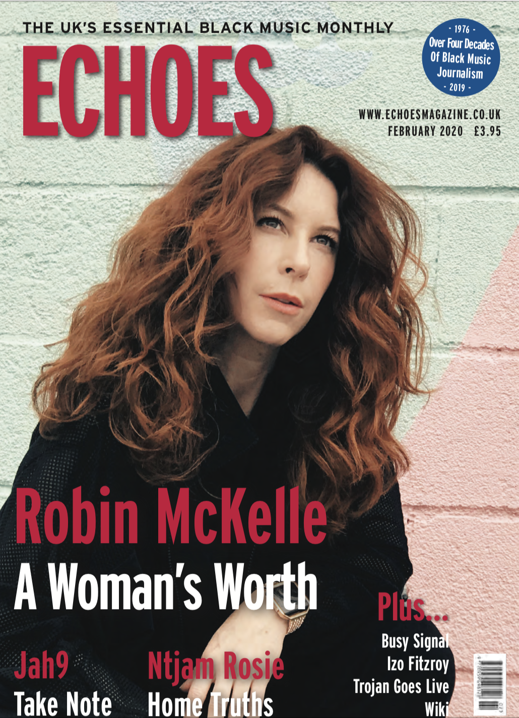 COVER: Robin McKelle on the cover of ECHOES