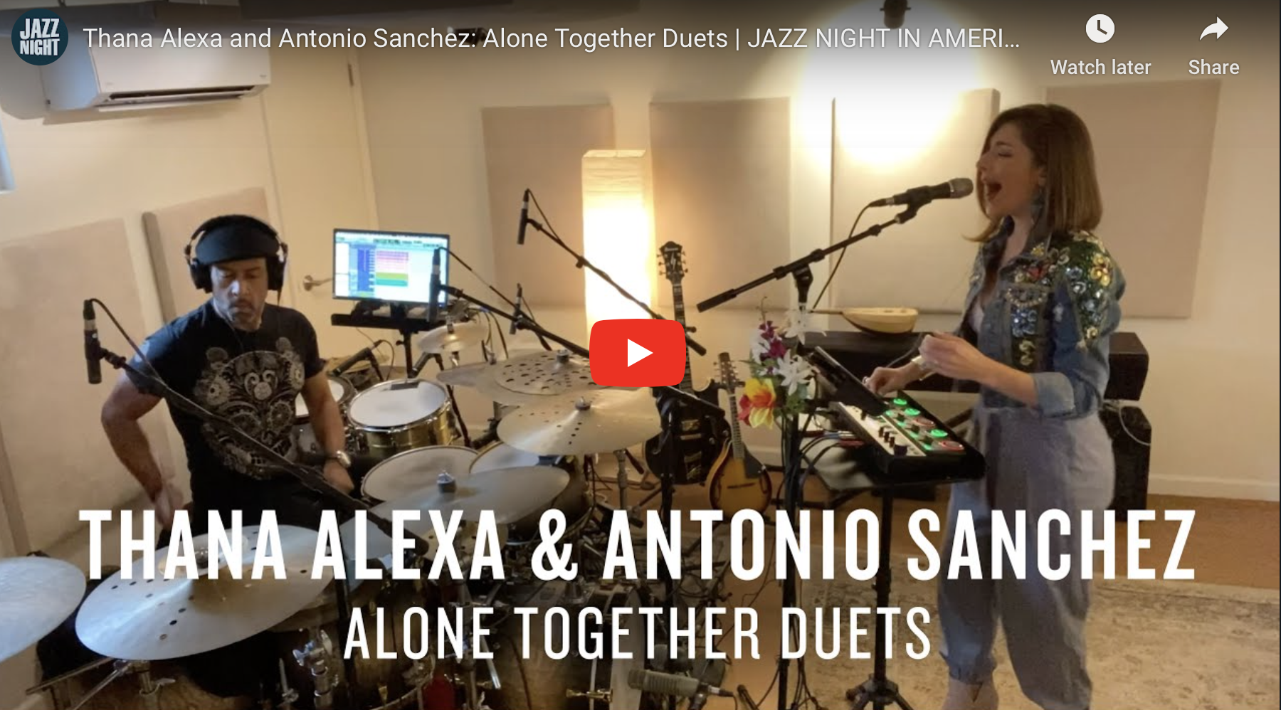 FEATURE: Thana Alexa & Antonio Sanchez: Alone Together Duets – NPR