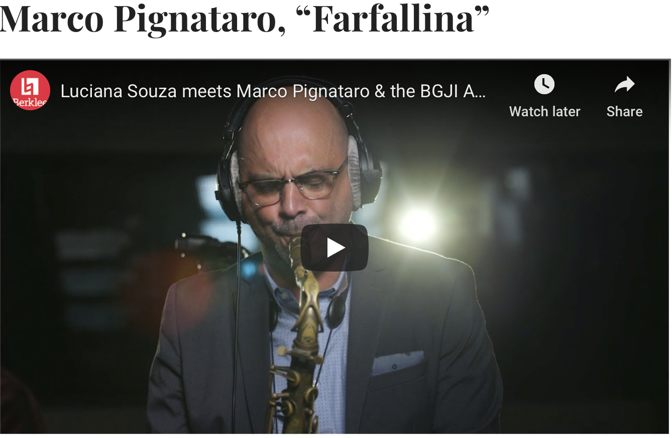 "NEW MUSIC MONDAY: Marco Pignataro ""Farfallina"" Featured By JAZZIZ"