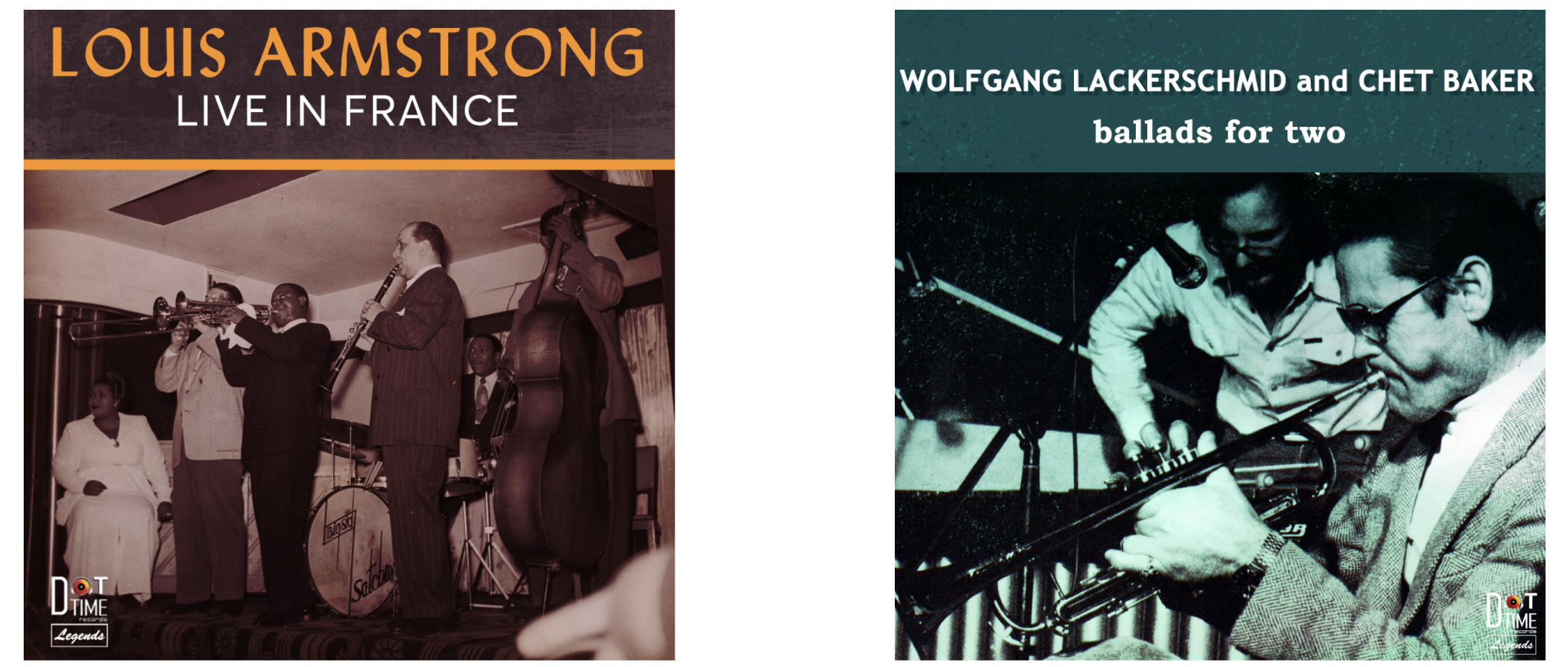 NEW VINYL FROM DOT TIME: Wolfgang Lackerschmid & Chet Baker and Louis Armstrong