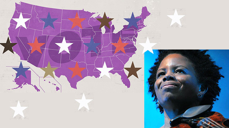 FEATURE: Regina Carter mixes music and politics in 'Swing States: Harmony in the Battleground' – The Bay State Banner