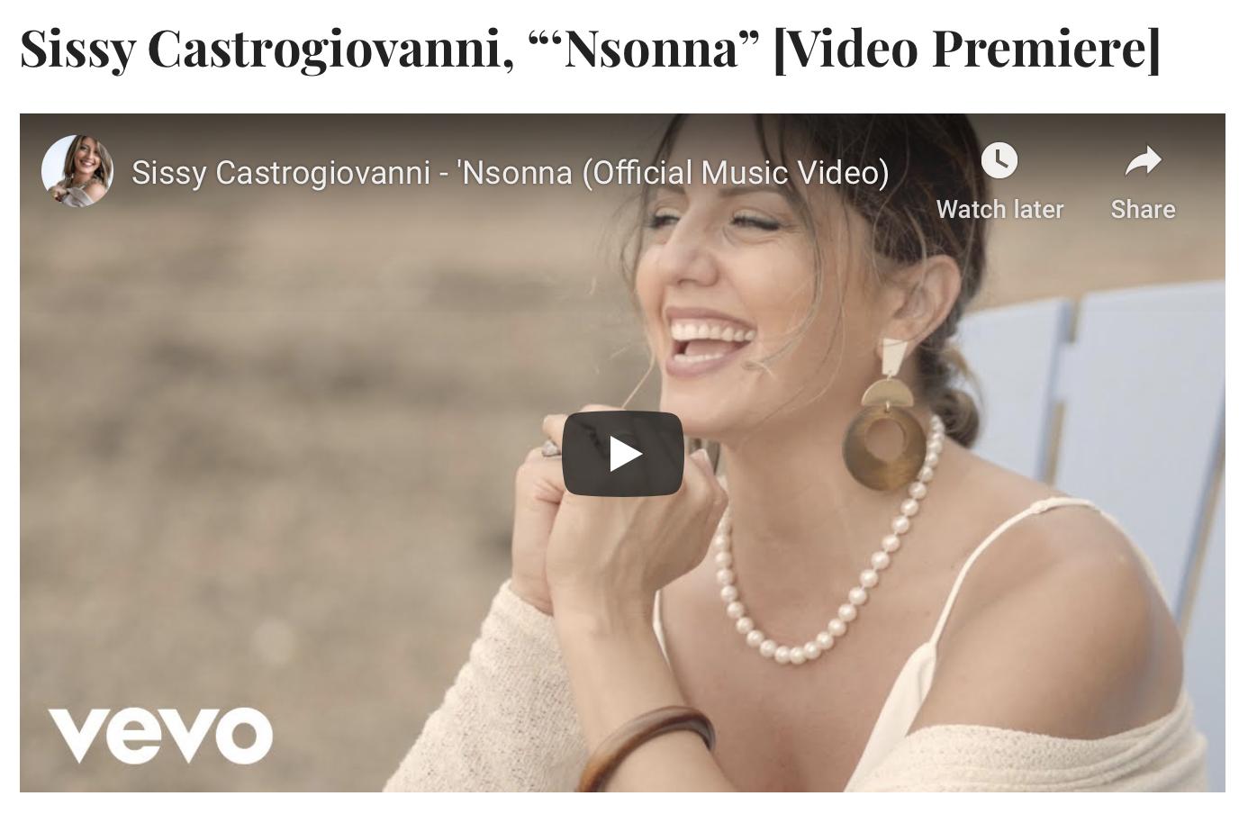 "NEW MUSIC MONDAY: Sissy Castrogiovanni, ""'Nsonna"" [Video Premiere] JAZZIZ"