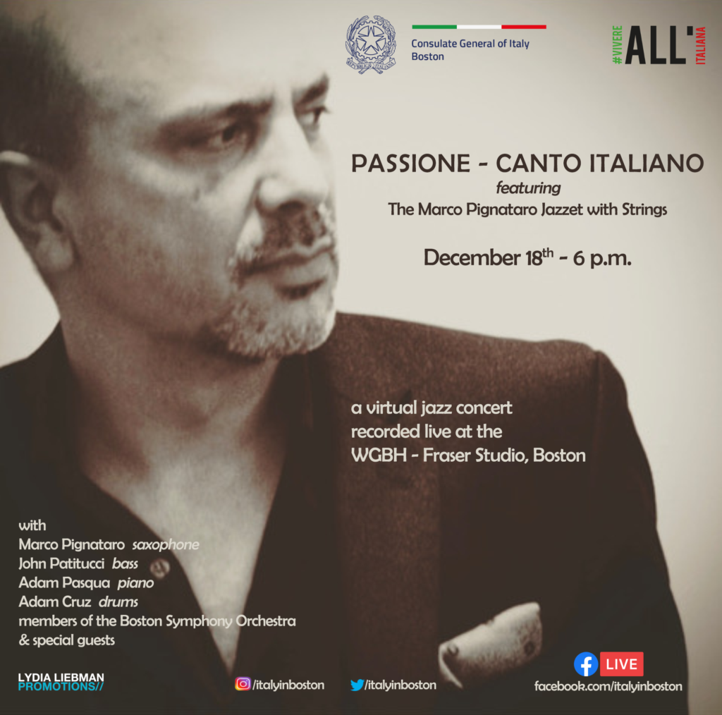 ANNOUNCEMENT: The Marco Pignataro Jazztet with Strings + Special Guests, December 18 – JAZZIZ
