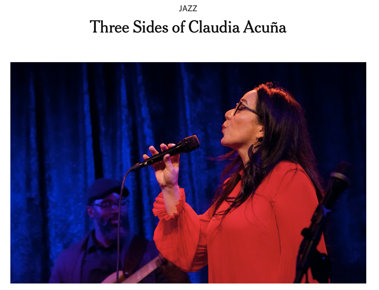 ANNOUNCEMENT: Three Sides of Claudia Acuña – The New York Times